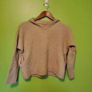 Cropped Hooded Cashmere Sweater